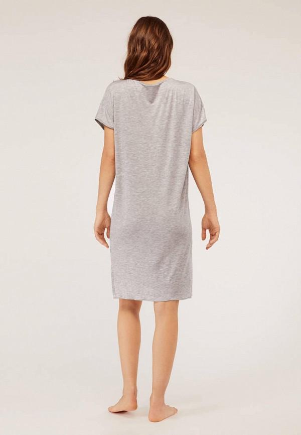 Фото 3 - Платье домашнее Oysho серого цвета
