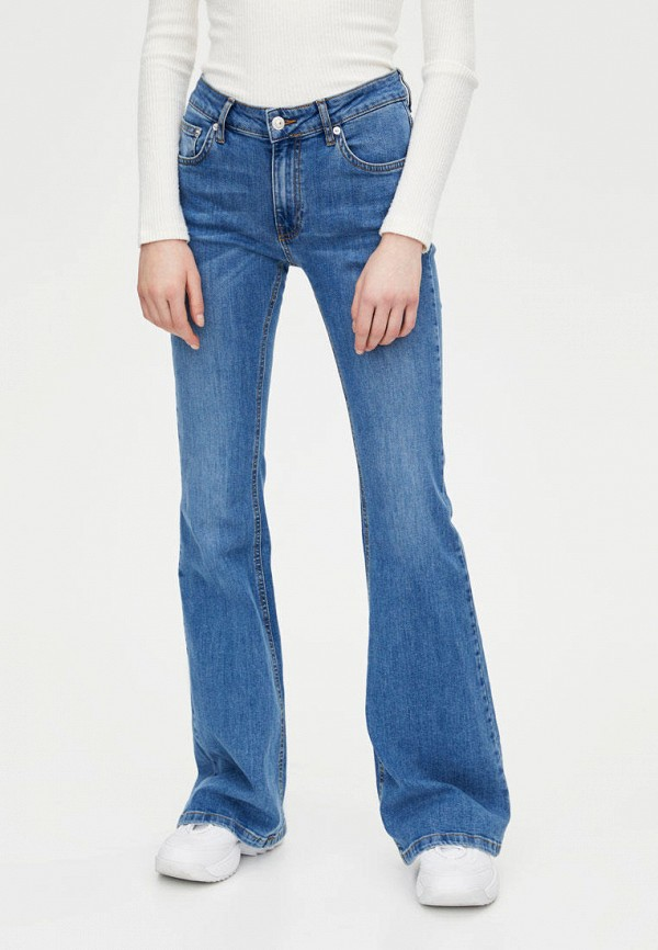 женские джинсы pull & bear, синие