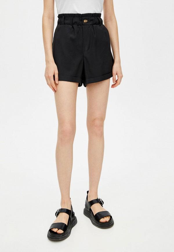 женские шорты pull & bear, черные