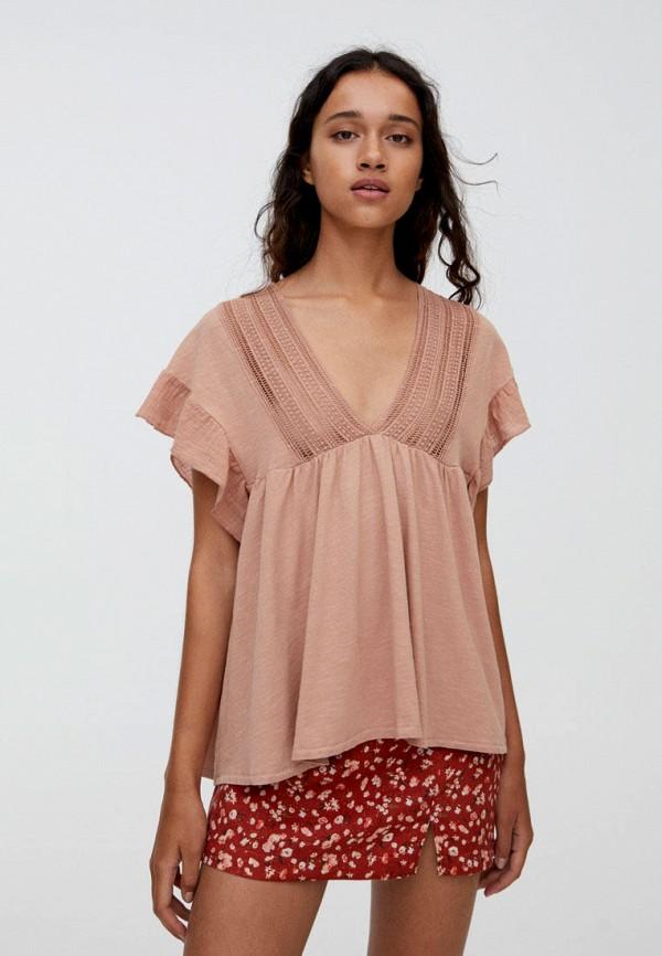 Фото - Блузу Pull&Bear розового цвета