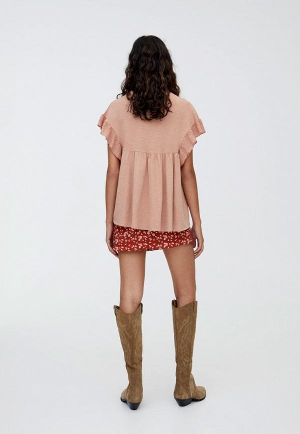 Фото 3 - Блузу Pull&Bear розового цвета