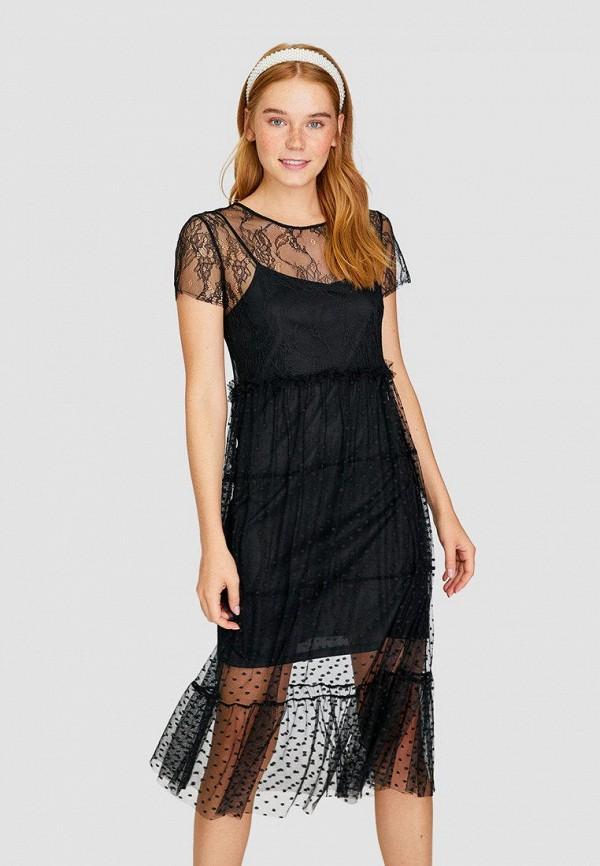 Фото - Женское вечернее платье Stradivarius черного цвета