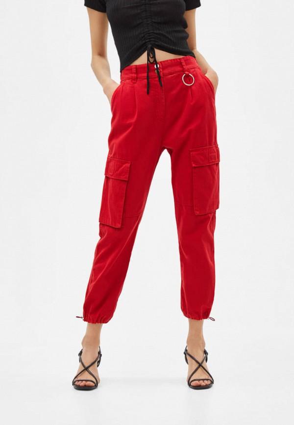 женские брюки bershka, красные