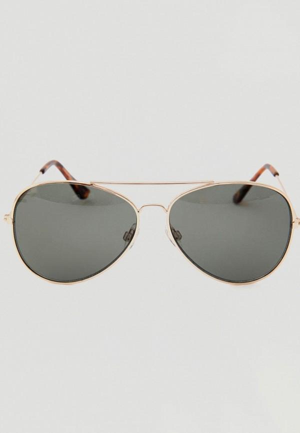 женские солнцезащитные очки pull & bear, золотые