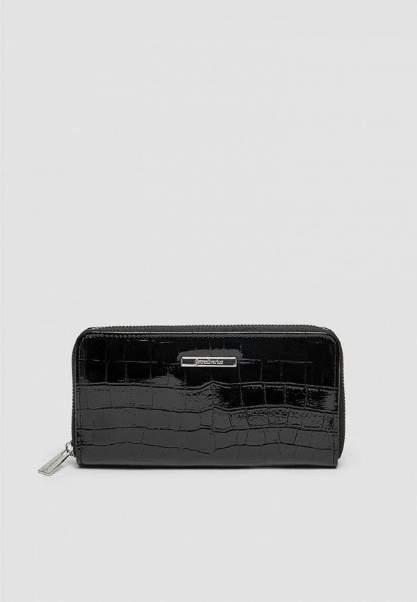 женский кошелёк stradivarius, черный