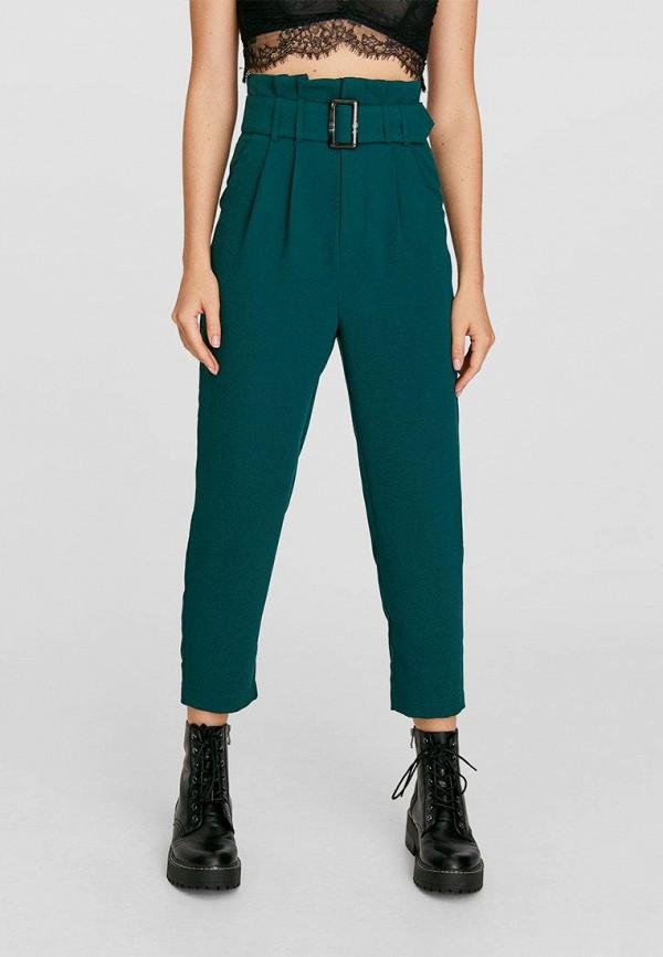 женские брюки stradivarius, зеленые