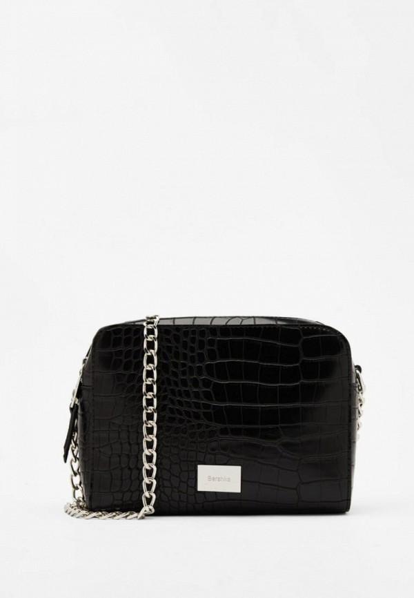 женская сумка bershka, черная