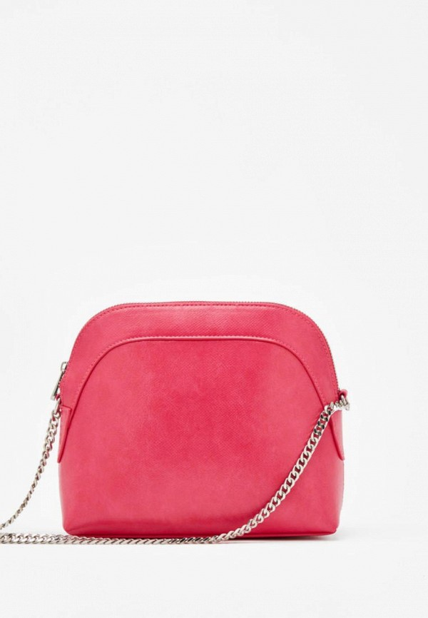 женская сумка bershka, розовая
