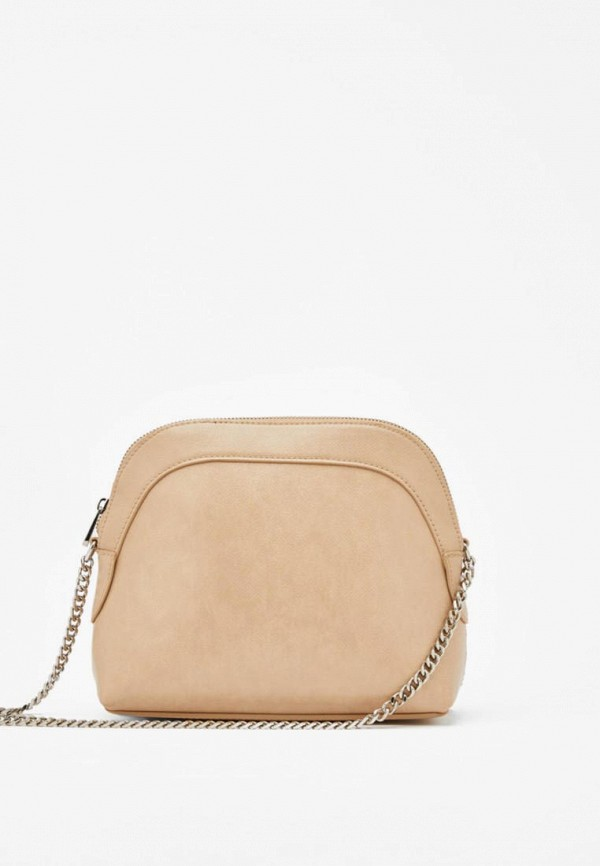 женская сумка bershka, бежевая