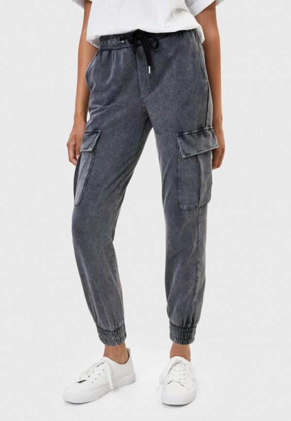 женские брюки bershka, серые