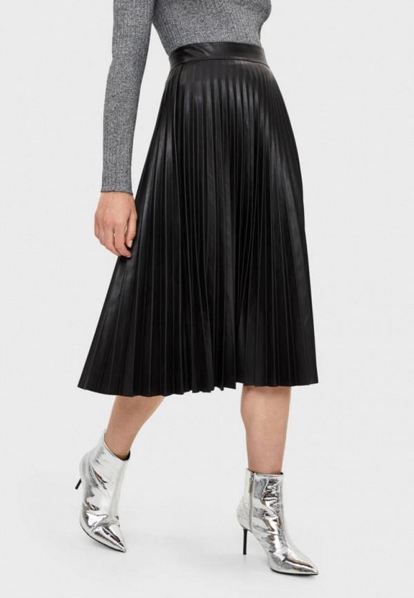 женская юбка bershka, черная