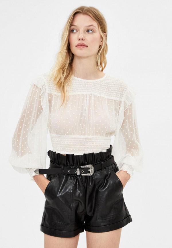 женские шорты bershka, черные
