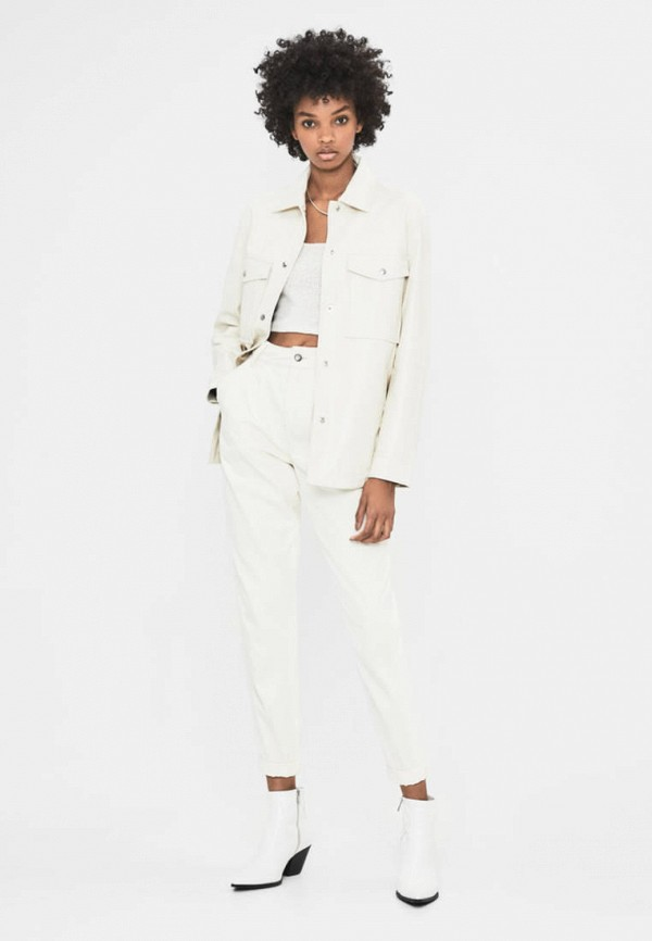 женская куртка bershka, белая