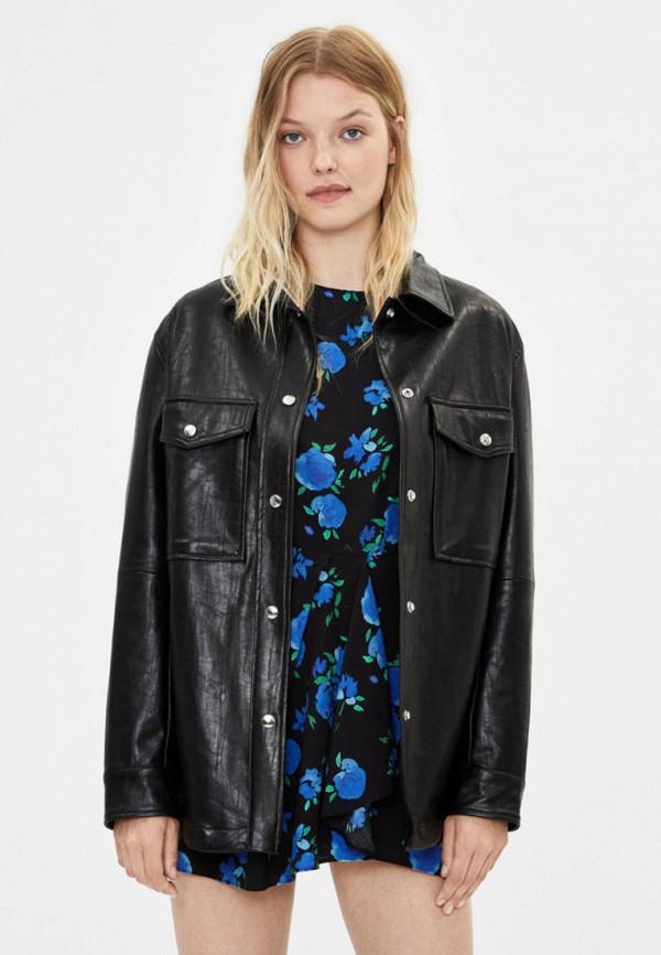 женская куртка bershka, черная