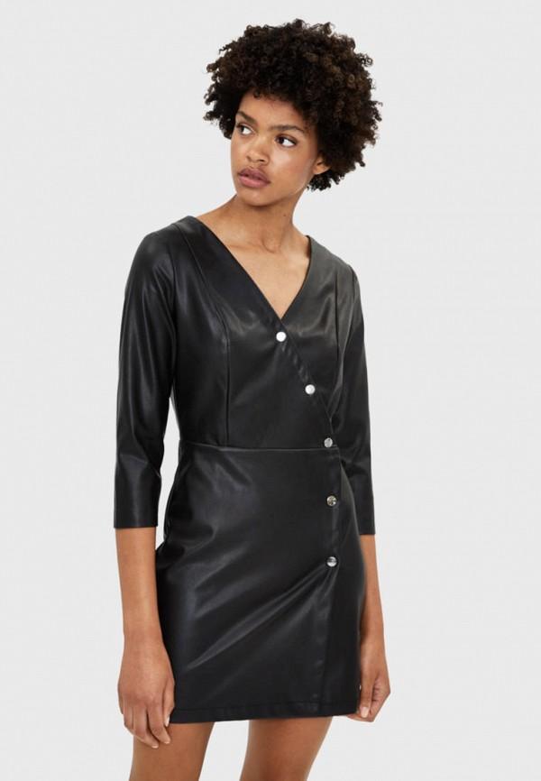женское платье bershka, черное