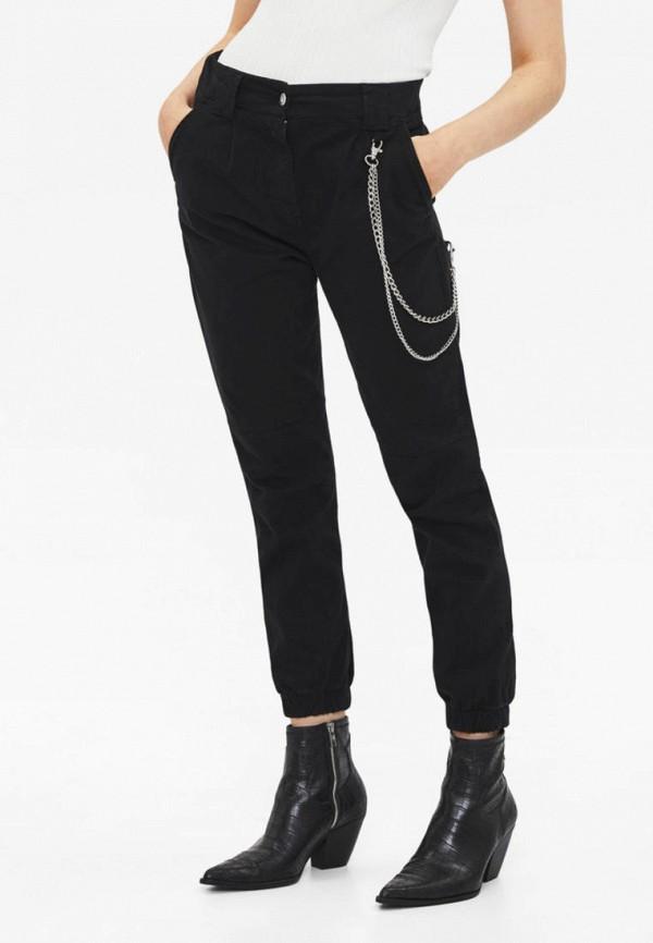 женские брюки bershka, черные