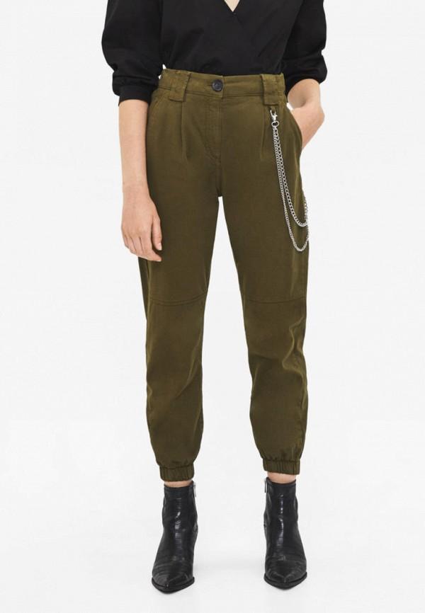 женские брюки bershka, хаки