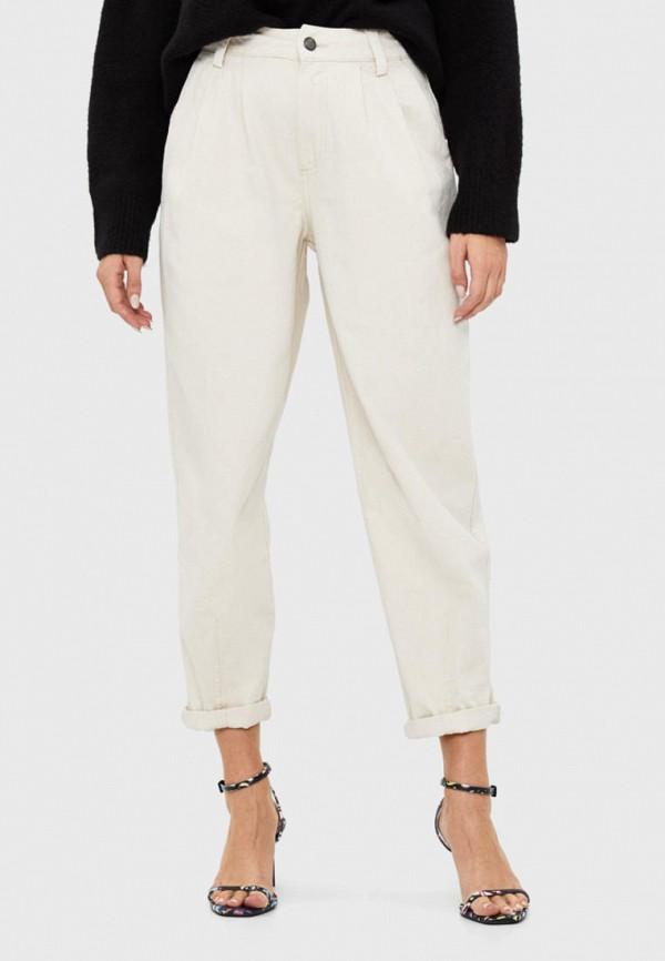 женские брюки bershka, бежевые