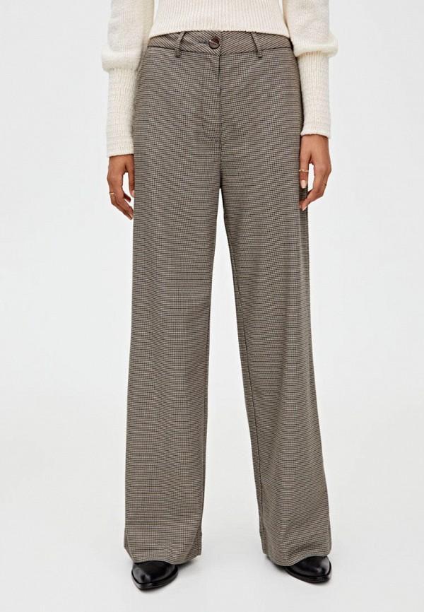 женские брюки pull & bear, коричневые