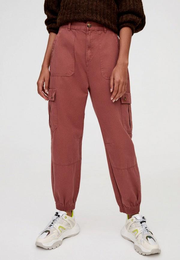женские брюки pull & bear, красные