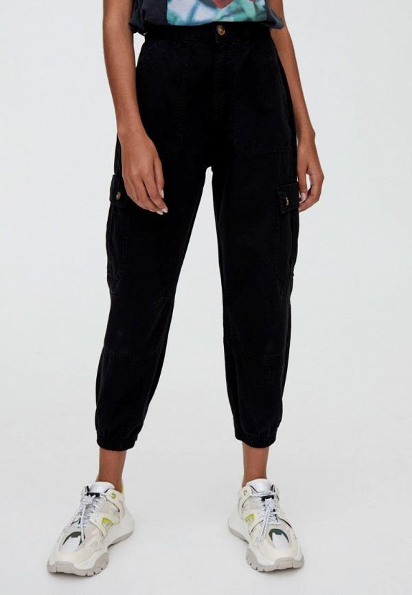 женские брюки pull & bear, черные