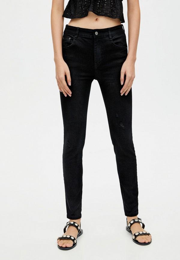 женские джинсы с push-up pull & bear, черные