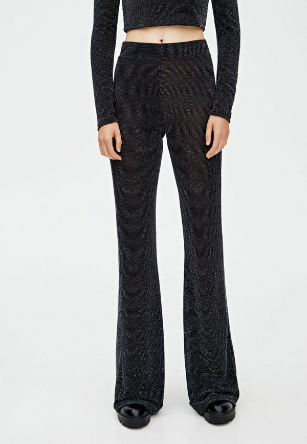 женские повседневные брюки pull & bear, черные
