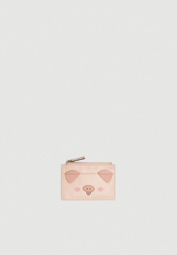 женский кошелёк pull & bear, розовый