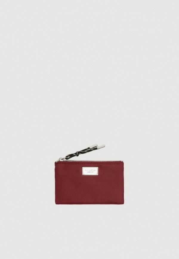 женский кошелёк pull & bear, бордовый