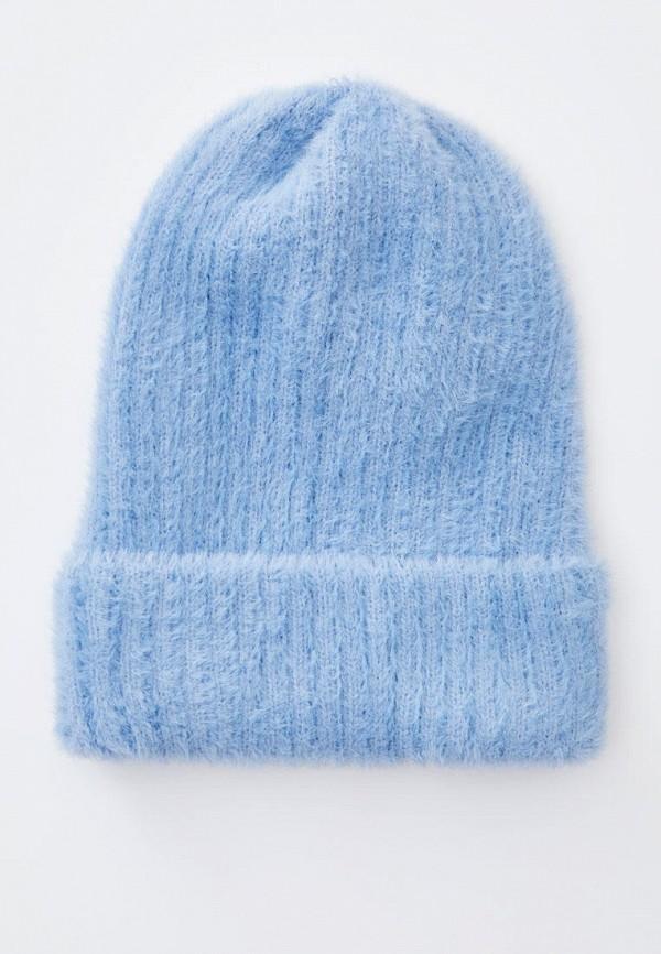 женская шапка pull & bear, голубая
