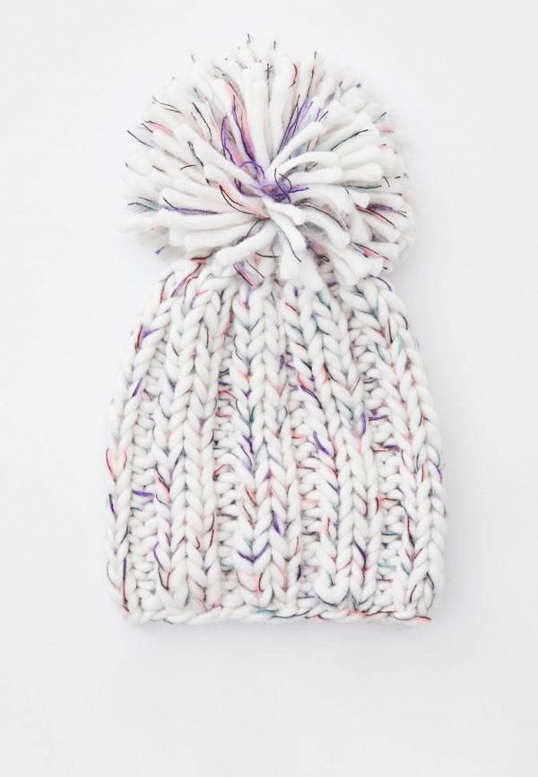 женская шапка pull & bear, белая