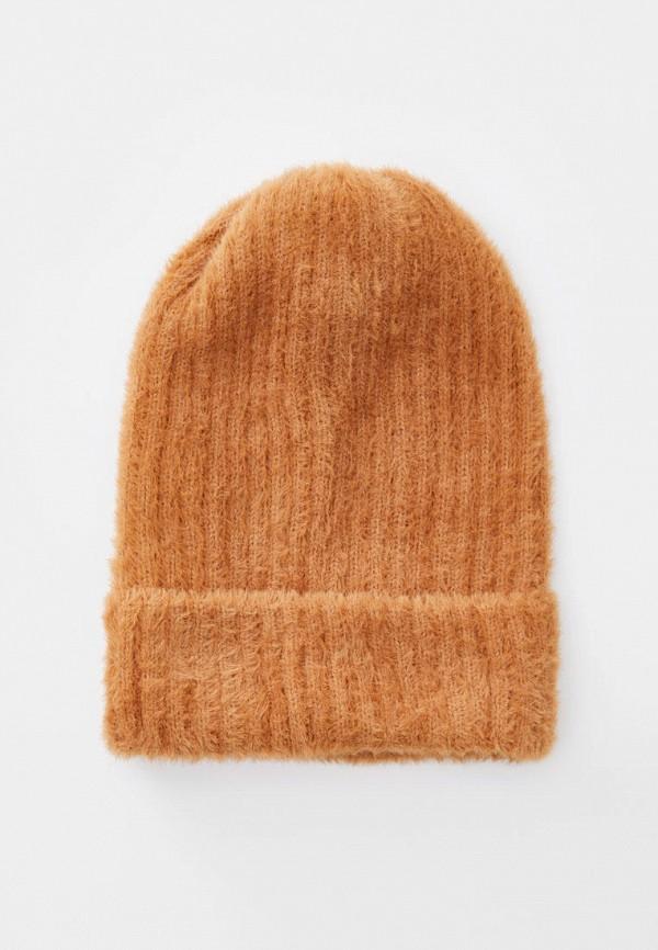 женская шапка pull & bear, коричневая