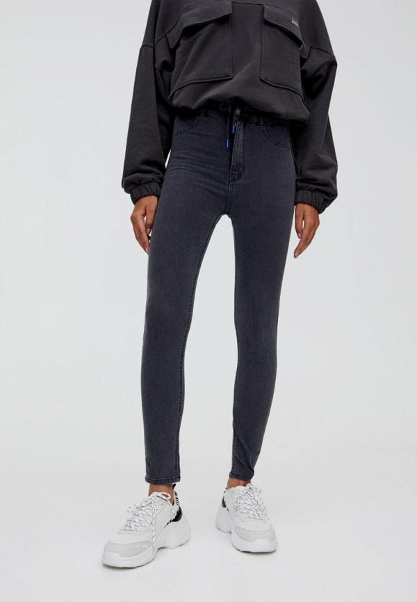 женские джинсы скинни pull & bear, серые