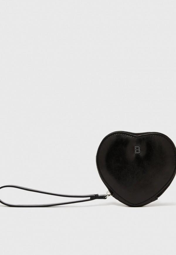 женский кошелёк bershka, черный