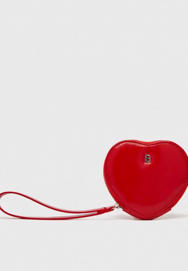 женский кошелёк bershka, красный