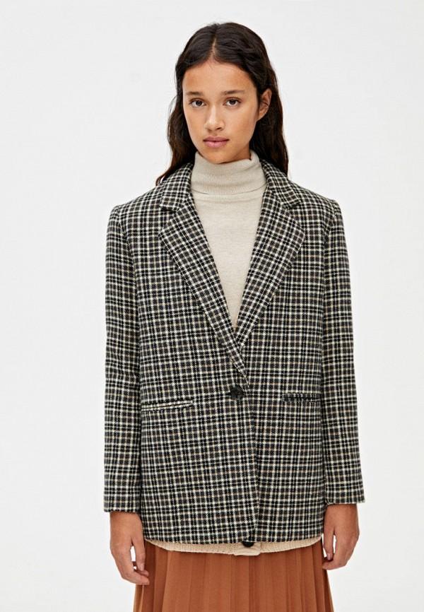 женский пиджак pull & bear, серый