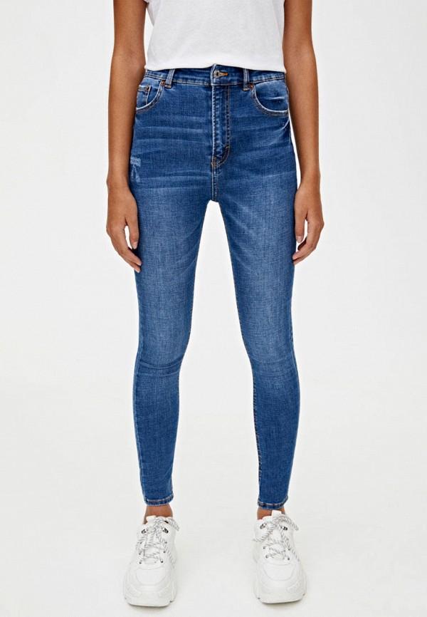 женские джинсы скинни pull & bear, синие