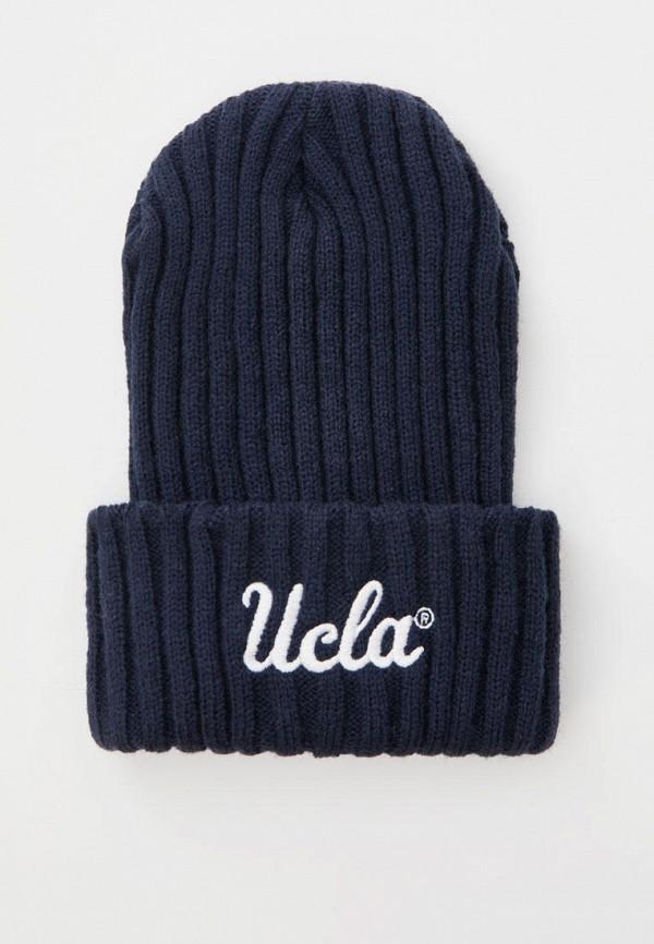 женская шапка pull & bear, синяя