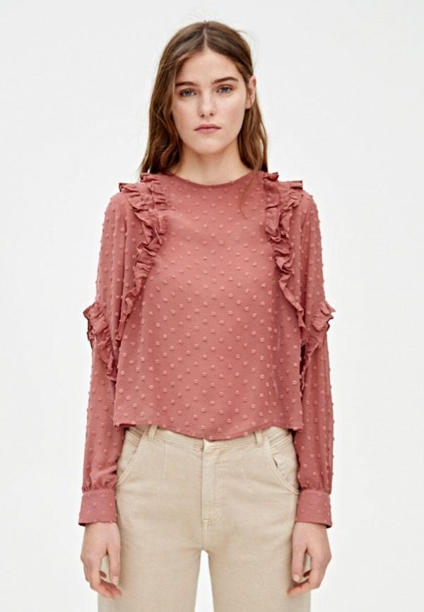 женская блузка pull & bear, розовая