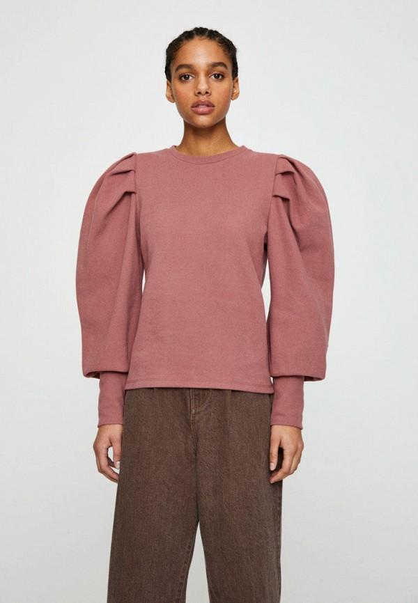 женский свитшот pull & bear, розовый