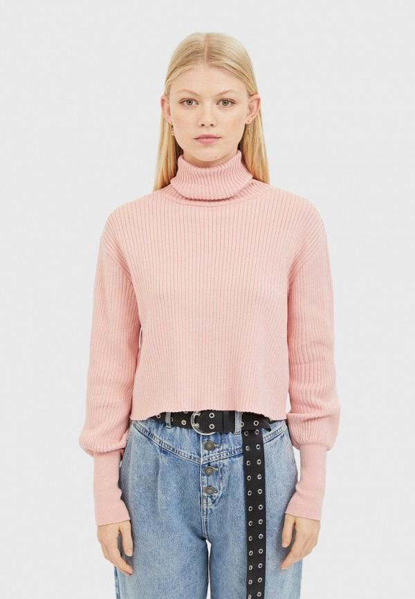 женский свитер stradivarius, розовый