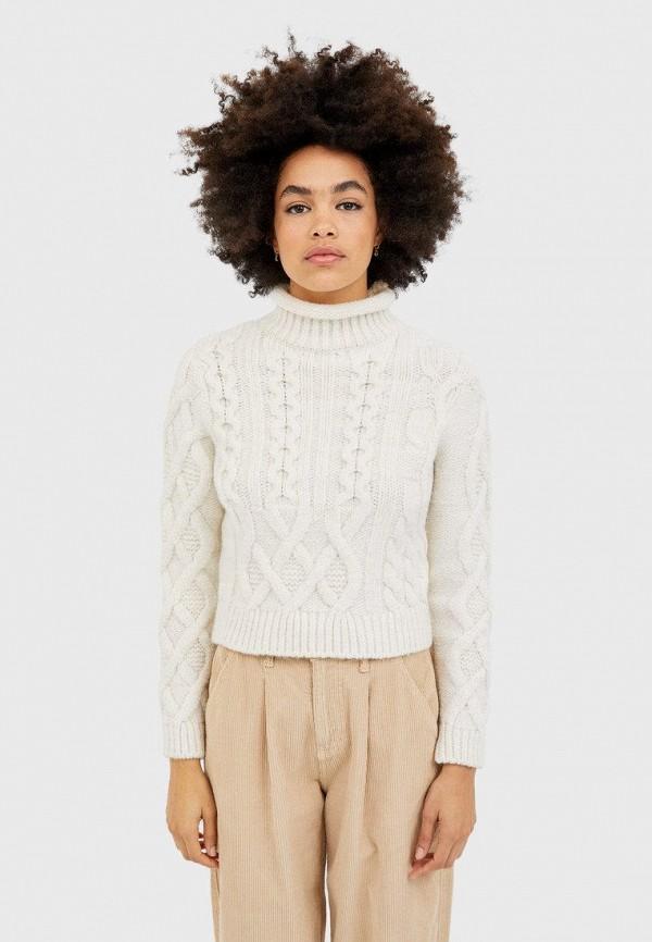 женский свитер stradivarius, белый