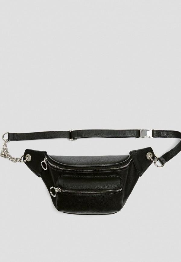 женская поясные сумка pull & bear, черная