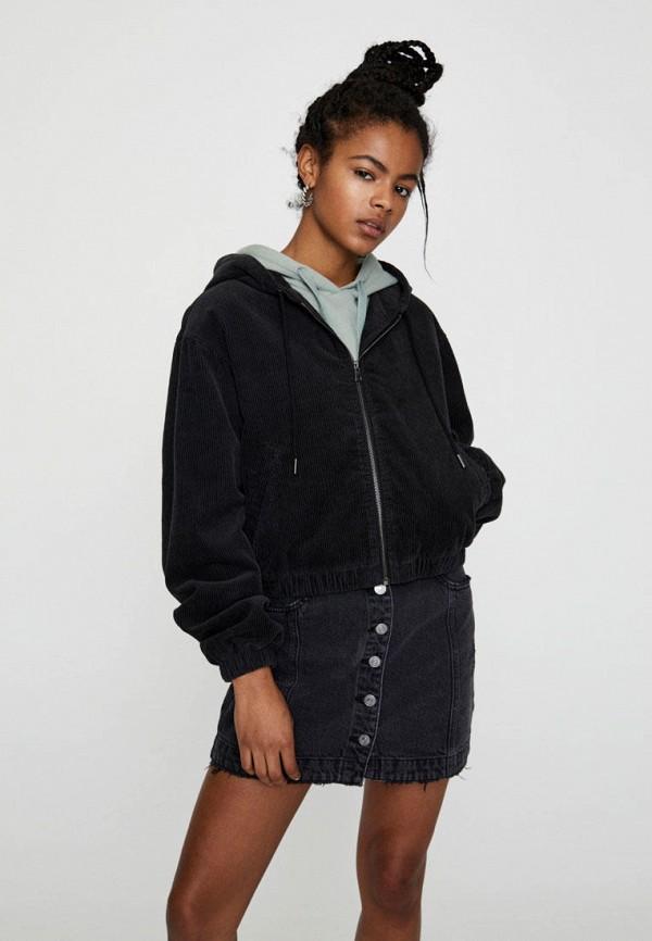 женская легкие куртка pull & bear, черная