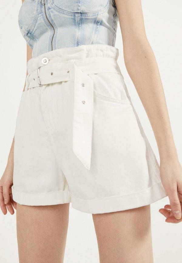 женские повседневные шорты bershka, белые