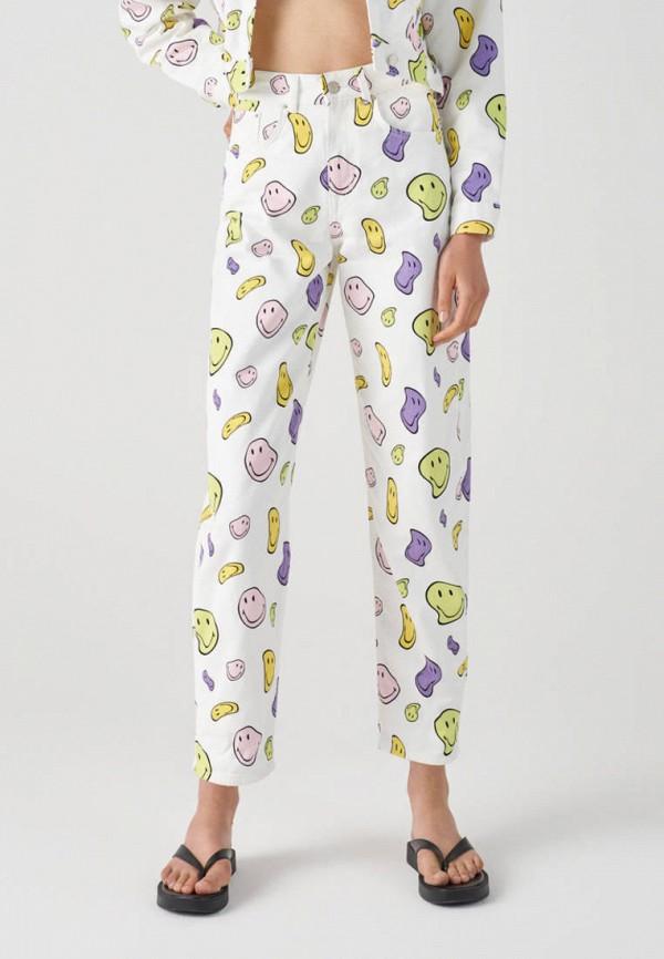 женские повседневные брюки pull & bear, белые