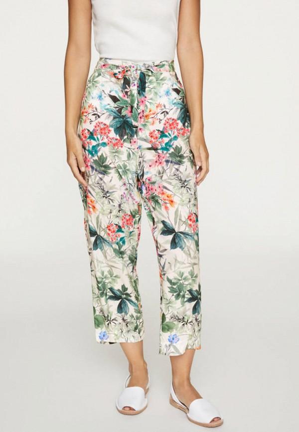женские повседневные брюки oysho, белые