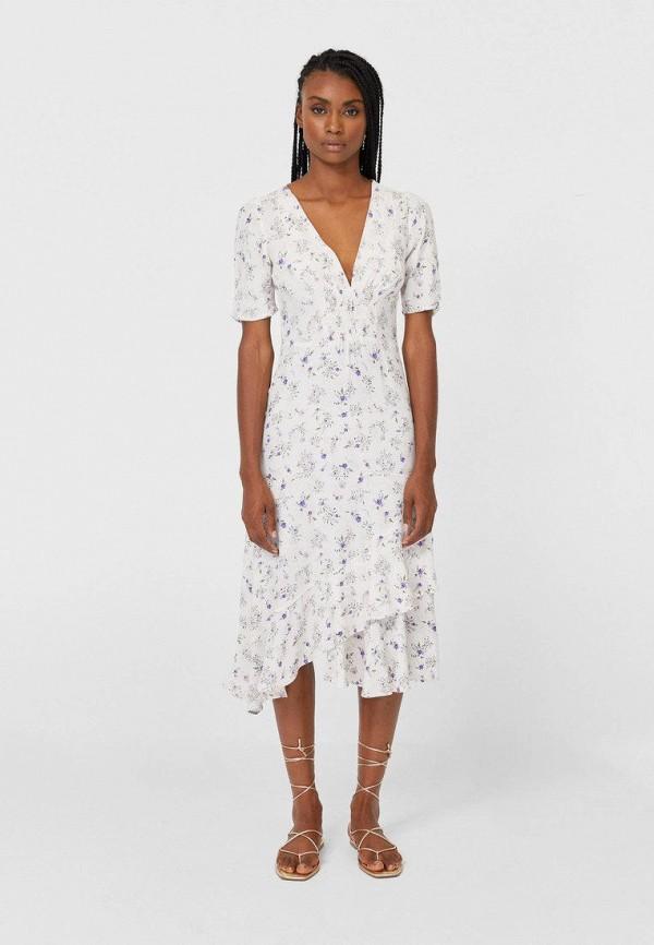 женское повседневные платье stradivarius, белое