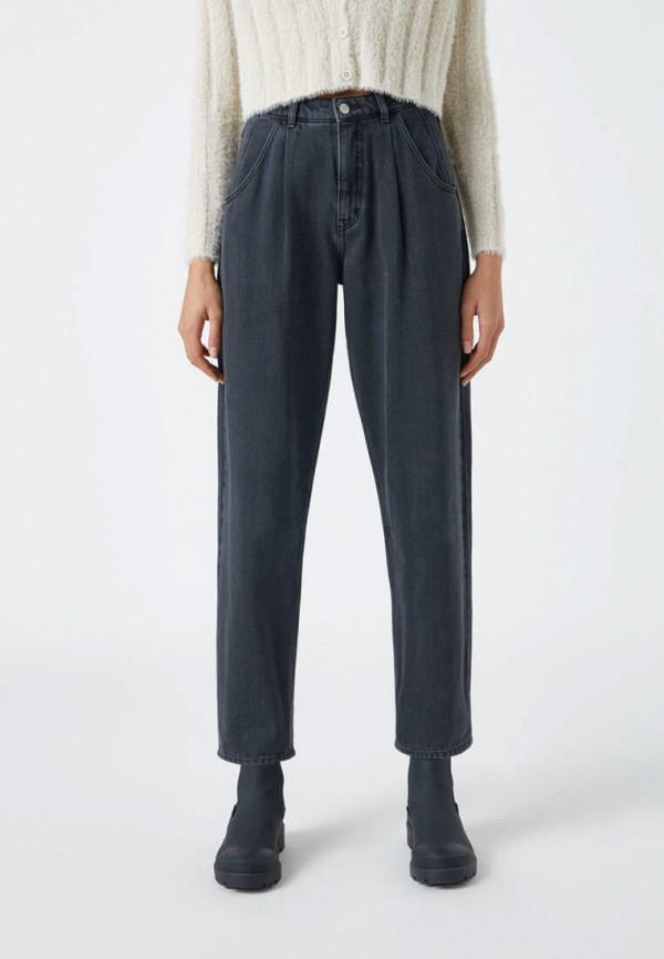женские прямые джинсы pull & bear, черные