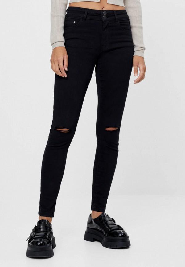 женские джинсы скинни bershka, черные
